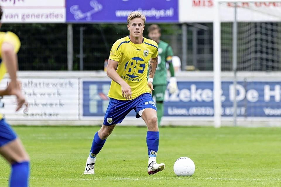 Bo de Bruijn draagt nu het shirt van FC Lisse. ,,Nee, ik heb geen verhuisplannen.''