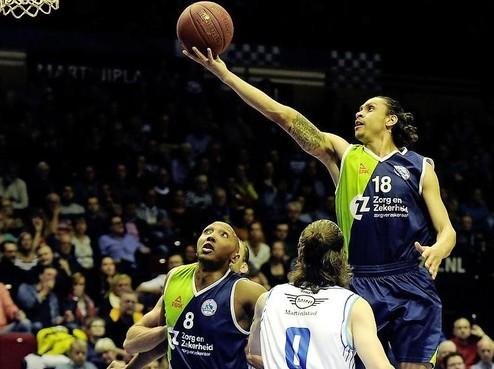 ZZ Leiden wint maar is uit de Basketball Cup