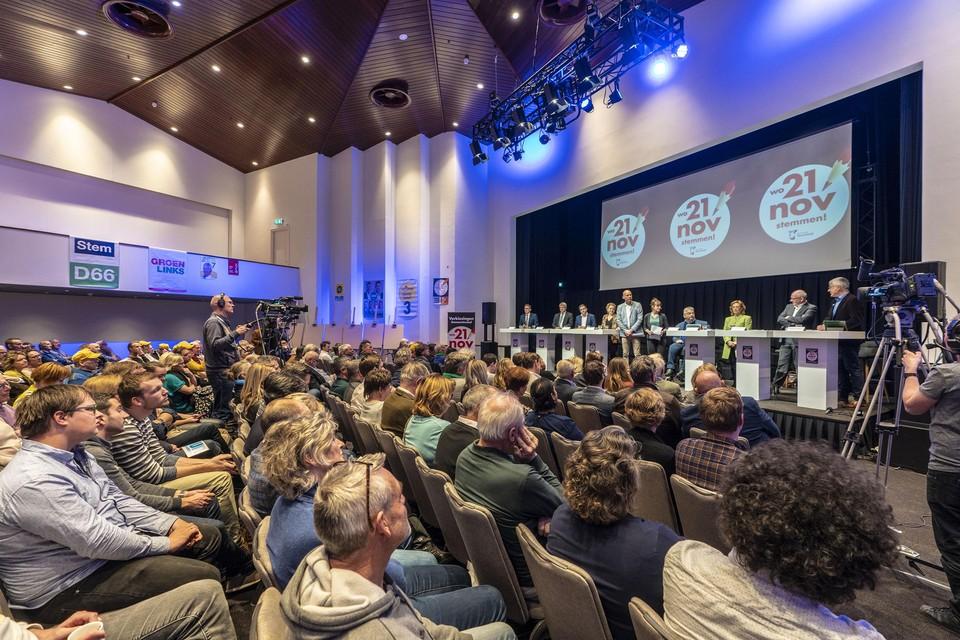 Het lijsttrekkersdebat in Noordwijk trok heel wat belangstellenden.