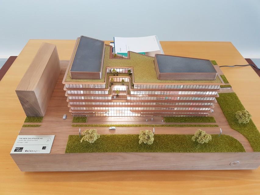 Maquette van Galapagos' toekomstige gebouw.