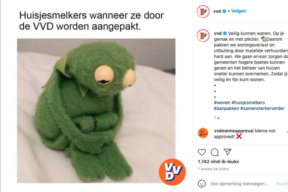 Een meme van de VVD.
