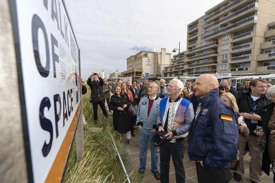 Cunningham, Schweickart en Gerst hebben nu ook een tegel op Walk of Space in Noordwijk