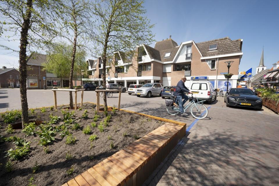 Het opgeknapte Marktplein in Noordwijkerhout.