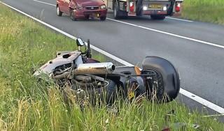 Motorrijder gewond bij frontale botsing met spookrijder op N207 bij Leimuiden, weg in beide richtingen dicht [update]