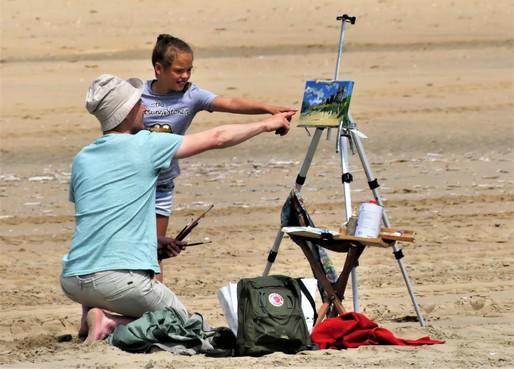 Schildersfestival Noordwijk: wachten op wat gaat komen