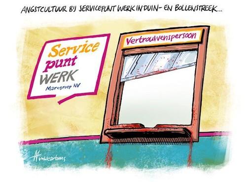 Cartoon: Angstcultuur bij Servicepunt Werk