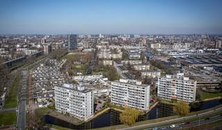 Leiden-Zuidwest, als vanouds een plek voor forse stappen | luchtfoto