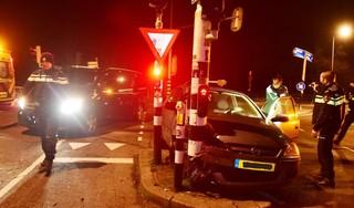 Automobiliste aangehouden na ongeluk in Oegstgeest