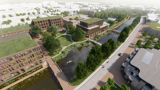 Campusplan langs Leidse Witte Singel wordt groene hart van universitaire gemeenschap, maar met 'n krasje