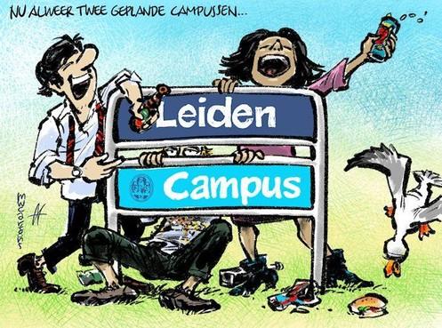 Cartoon: Nog een Leidse campus in de plannen