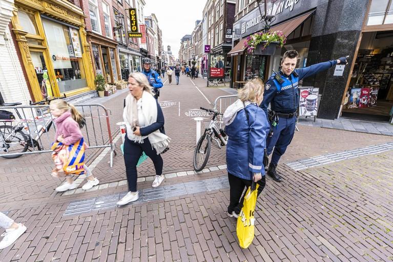 Leidse ondernemers overwegen druktemeter voor de binnenstad
