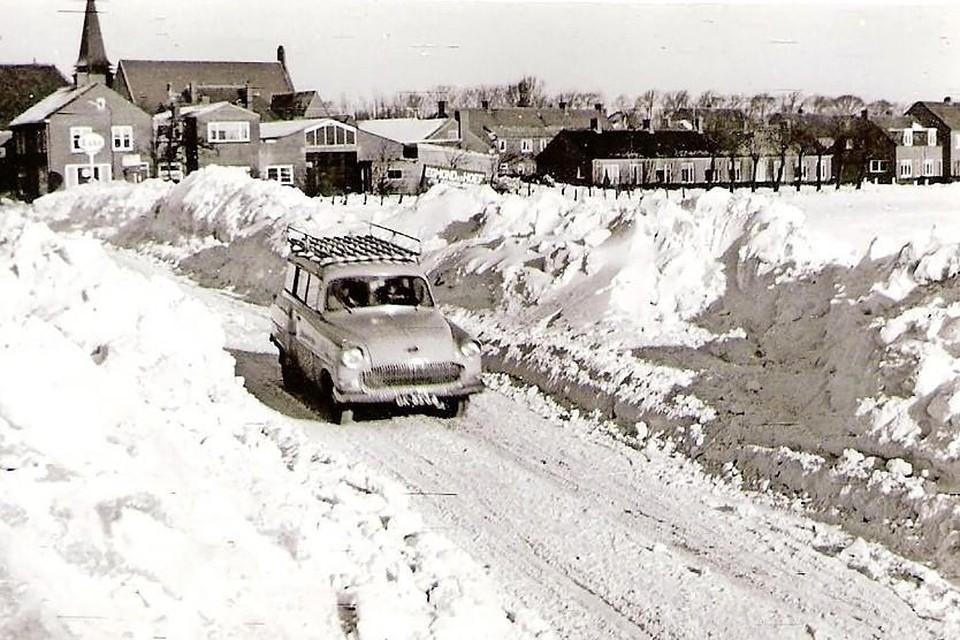 Sneeuwravijn in Bergen, jaartal onbekend. Foto Regionaal Archief Alkmaar