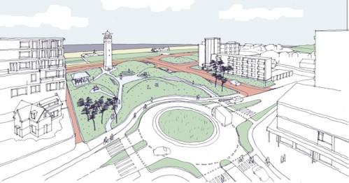 Vuurtorenplein wordt Vuurtorenduin: gemeente Noordwijk presenteert nieuw plan voor deel boulevard