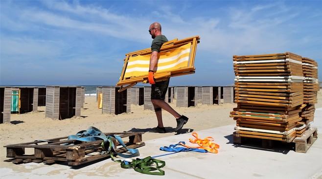Strandtenthouders in Katwijk en Noordwijk zijn al improviserend klaar voor stralende Hemelvaart