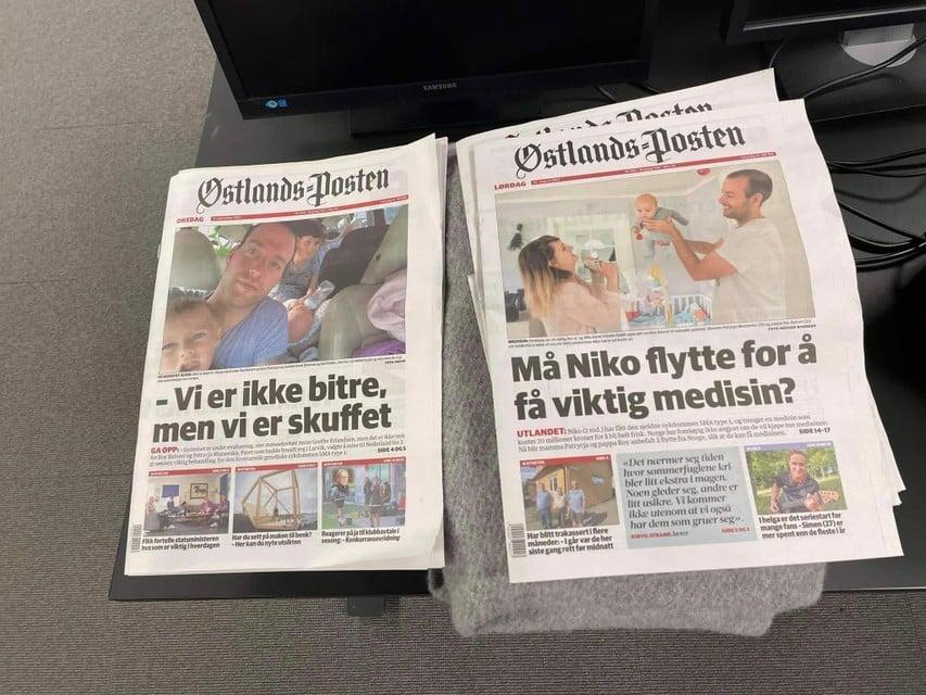 De noodkreet van het echtpaar Balvert in de Noorse kranten.
