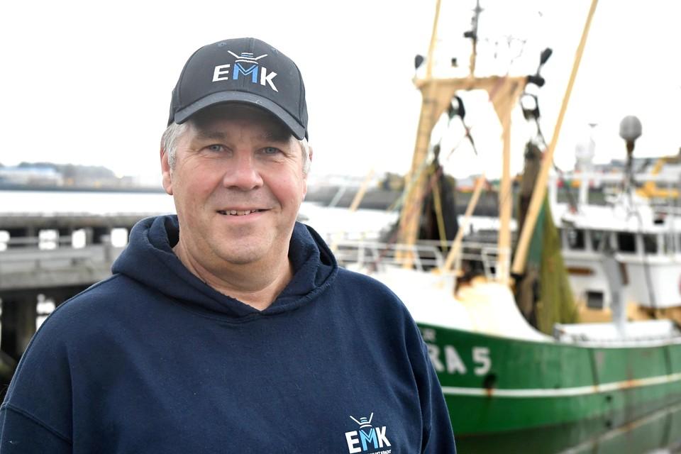 Visser Dirk Kraak bij een van zijn kotters