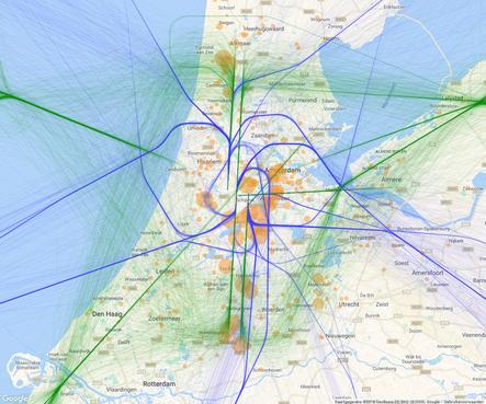 Hoger aanvliegen naar Schiphol na herindeling van het luchtruim