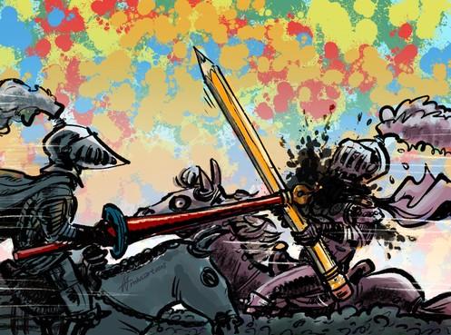 De eerste Leidse cartoon battle: negen tekenaars nemen Rembrandt op de korrel