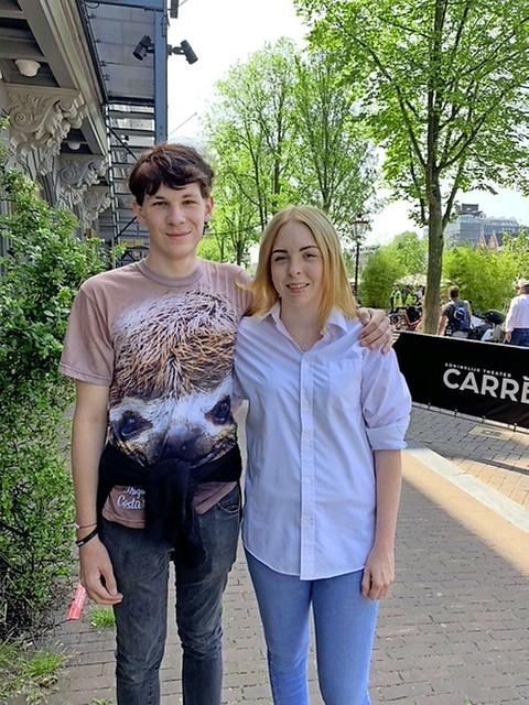 Lisa Smit met haar vriend Jasper de Leeuw.