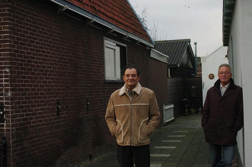 Jan Dol (links) en Piet Bot in 2005.