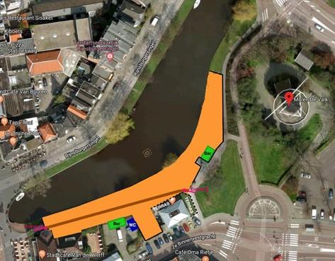 Plannen voor een Leids stadsstrand aan de Rijnsburgersingel