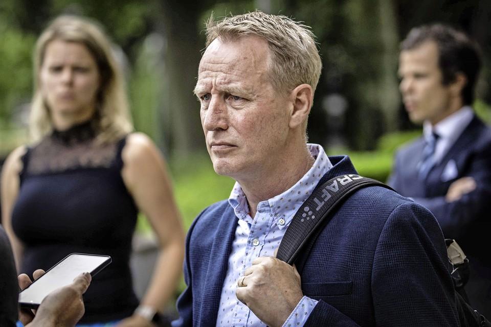 Vincent Wevers na afloop van de uitspraak van het kort geding dat de turncoach tegen de KNGU had gevoerd op 18 juni.