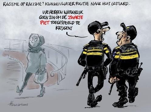 Cartoon: Klokkenluider racisme bij politie op non-actief