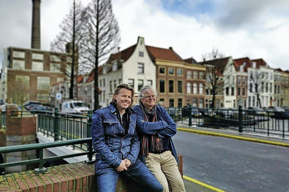 Rutger Engelhard (rechts op de foto) samen met Hans Sparreboom, januari 2020.