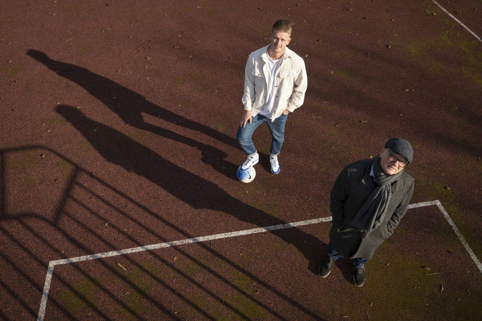 Maik van Zanten samen met vader Frans, zijn trouwste fan en beste maat.