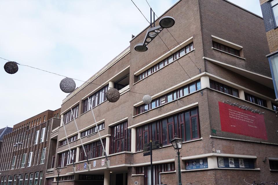 Het gebouw van Leidse studentensociëteit Minerva.