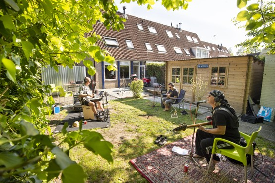 La Bomba: opnames in de achtertuin