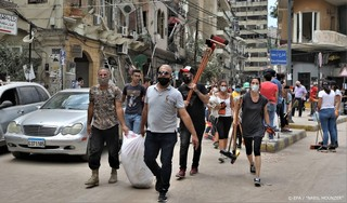 Gevechten tussen politie en demonstranten in Beiroet