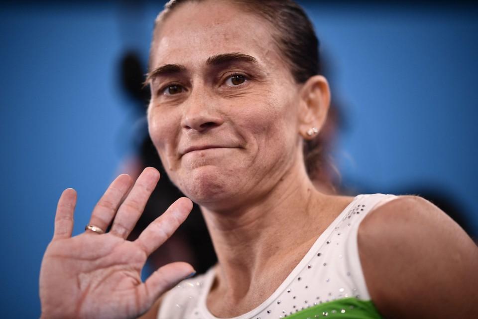 Turnster Oksana Tsjoesovitina (46) deed in Tokio mee aan haar achtste en laatste Spelen.