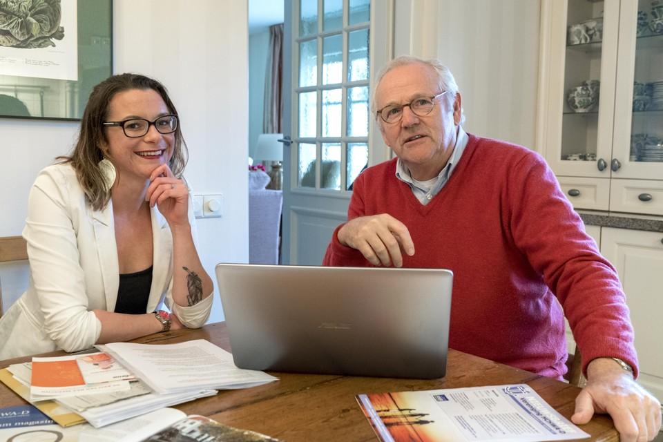 Sanne van Rijn en Henk Hueting van patientenvereniging HCHWA-D.