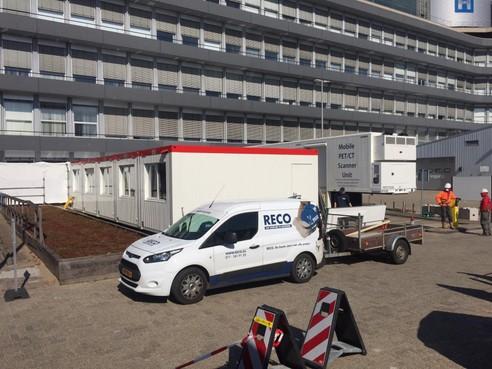 Mobiel scanapparaat voor coronapatiënten achter Alrijne Leiderdorp (update)