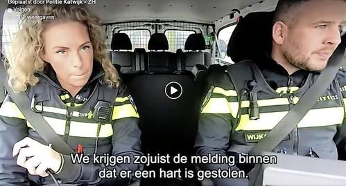 Politiedeskundige: 'Hartverwarmende actie' van politie Katwijk [video]