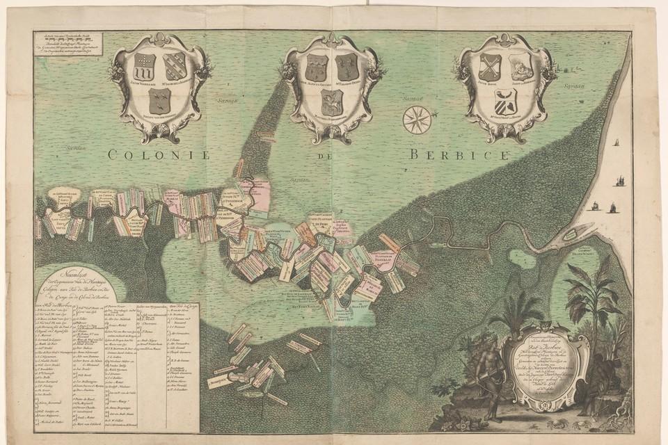 De voormalige kolonie Berbice.