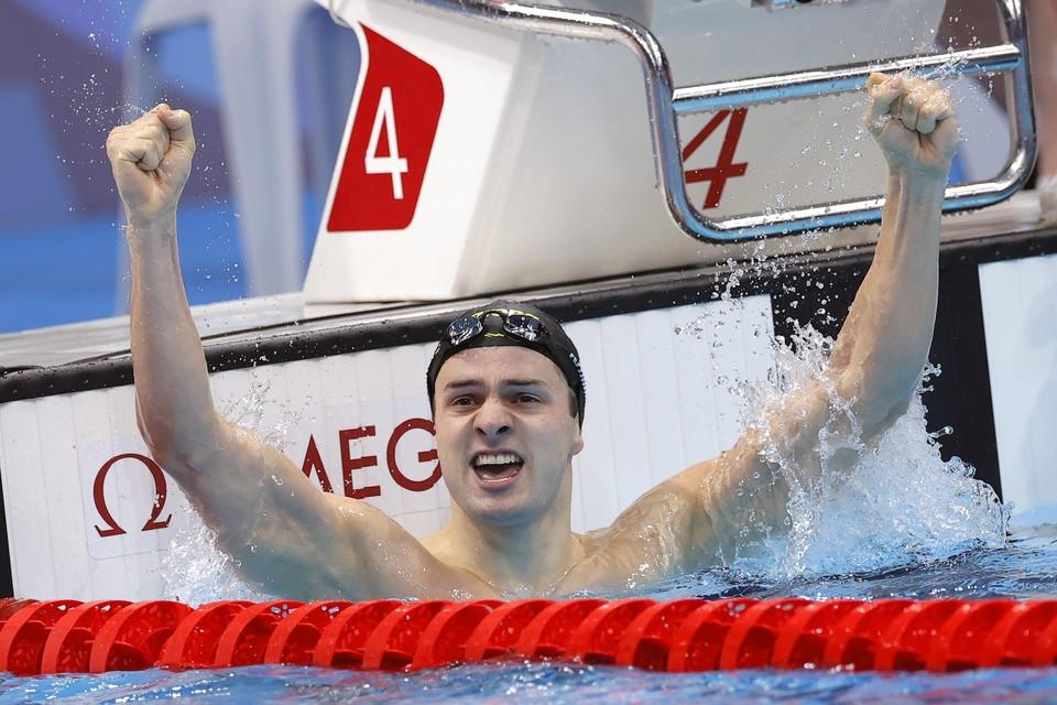 Arno Kamminga op Olympische Spelen.