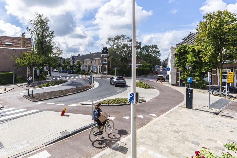 De nieuwe fietsrotonde