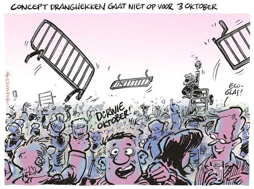 Cartoon: Dranghekken werken averechts op 3 Oktober