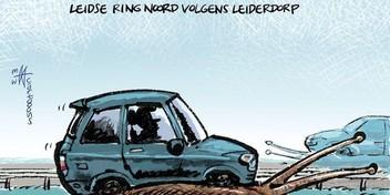 Cartoon: Leidse Ring Noord volgens Leiderdorp