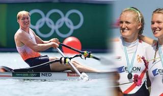 Zwemster Kira Toussaint, hockeyer Thierry Brinkman en roeister Karolien Florijn hopen in Tokio in de voetsporen van hun 'gouden' ouder te treden: 'Het is stiekem toch best een 'dingetje' hoor'
