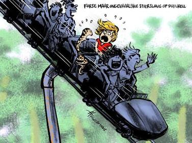 Cartoon: Amerikaanse stierslang op Duinrell