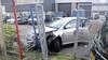 Automobilist raakt onwel en botst tegen hekwerk in Sassenheim
