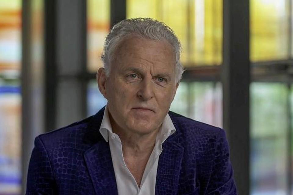 Peter R. de Vries tijdens de opnames van zijn laatste interview met Han Peekel eind juni.