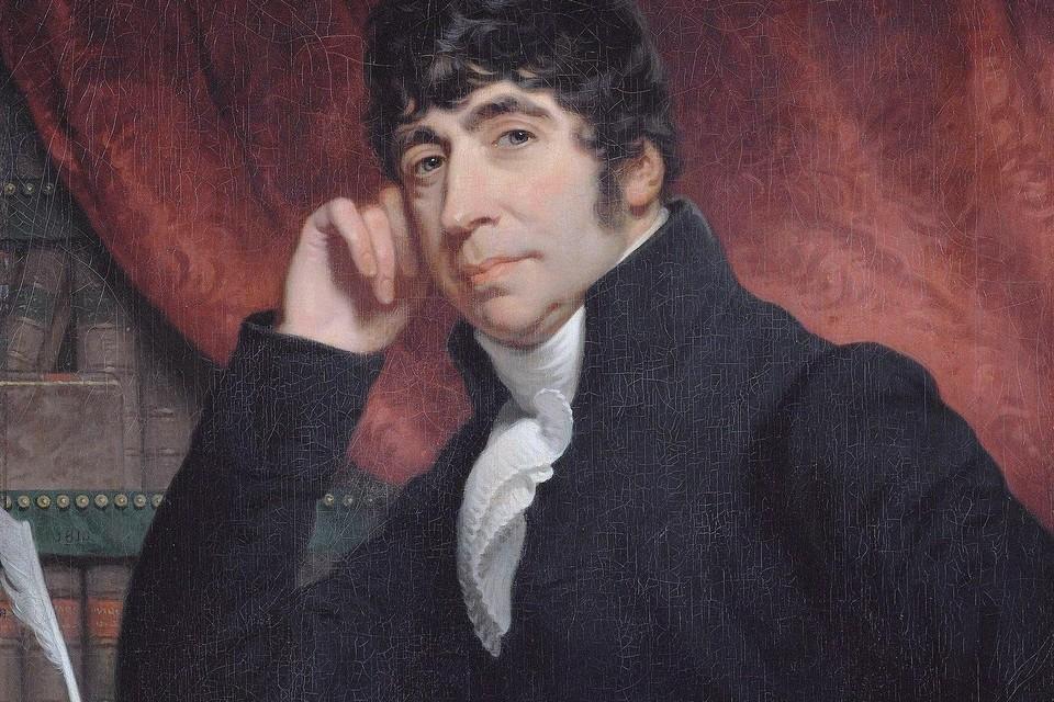 Willem Bilderdijk in 1810, schilderij door Charles Howard Hodges.