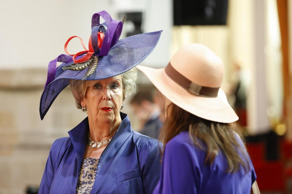 Kamerlid Annemarie Jorritsma voorafgaand aan de opening op Prinsjesdag van de Verenigde Vergadering van de Staten-Generaal.