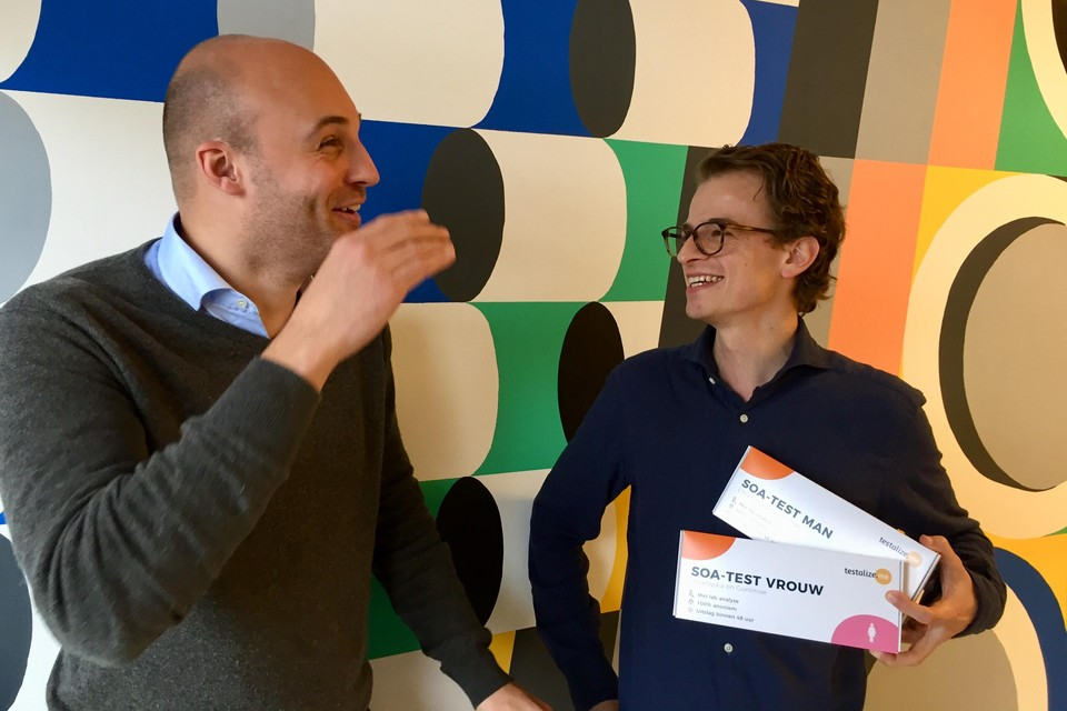 Hubert Mooren (links) en Christiaan de Vries van Testalize.me.