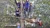 Gemeente Leiden breekt boomhut van spelende kinderen af: 'Het was zo leuk om met iedereen in de straat buiten te spelen'