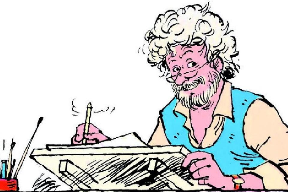 Jan Kruis, de bedenker van de strip 'Jan, Jans en de kinderen'.